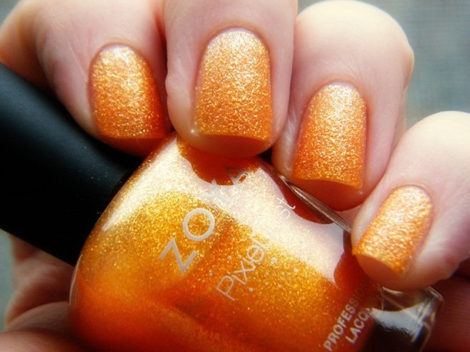 Orange Nail Polish Swatches: Zoya Beatrix PixieDust