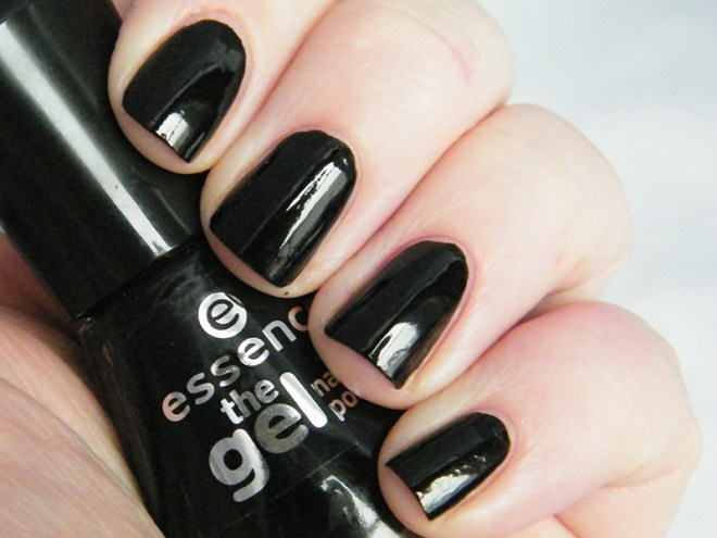 Essence The Gel Black Nail Polish #CBBOctNails