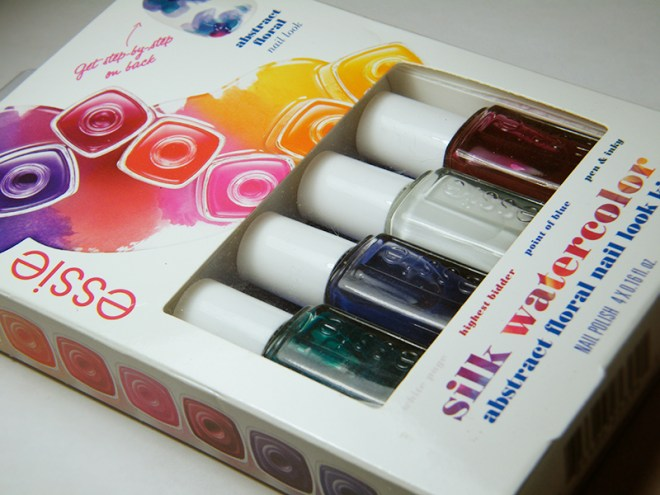 Essie Silk Watercolors Bloody Nails Nailart Packaging