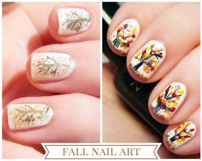 Fall Nail Art #CBBOctNails Tree Nail Art