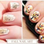 Fall Nail Art #CBBOctNails Tree Nail Art