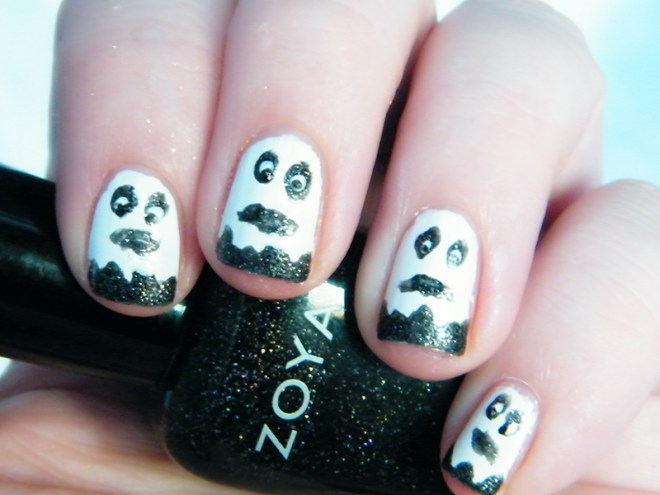 Ghost Nails Halloween Nail Art CBBOctNails