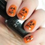 Pumpkin Orange Nail Art CBBOctNails