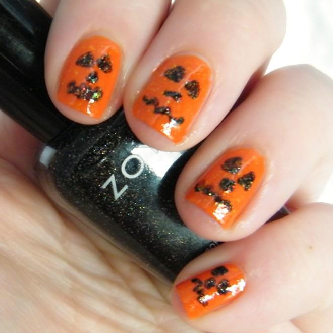 Orange Nail Art #CBBOctNails Challenge