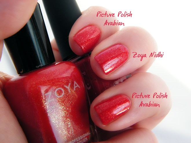 Zoya Nidhi Picture Polish Arabian Swatch
