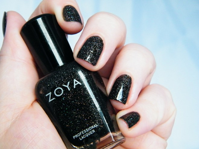 Zoya Storm Swatch Black Nail Polish CBBOCtNails Day 1