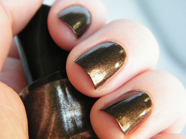 Mariposa Nail Polish Foils Dollarama Brown Polish Swatch Sunset