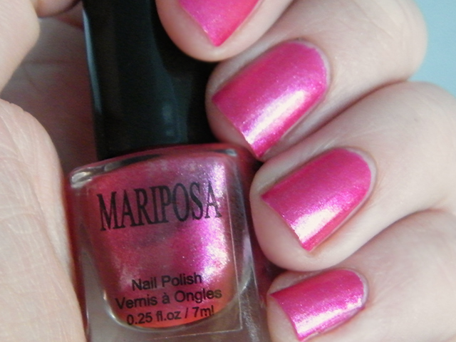 Mariposa Nail Polish Foils Dollarama Pink Polish CSwatch