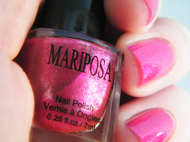 Mariposa Nail Polish Foils Dollarama Pink Polish Close Swatch