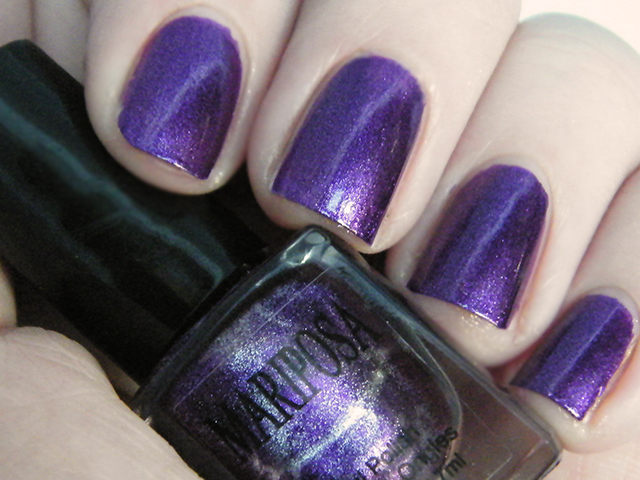 Mariposa Nail Polish Foils Dollarama Purple Polish Swatch