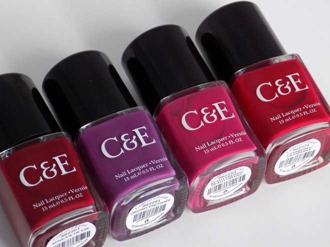 crabtree & evelyn c and e festive favourites holiday collection beautyberry cranberry wine orchid swatches bottles