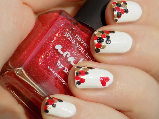 Valentines Nail Art - Dotticure