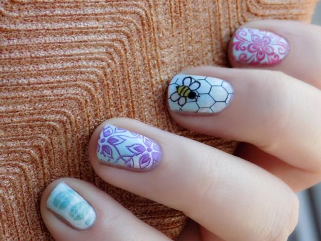 Cheerios Bee Nail Art - Bring Back The Bees Buzz