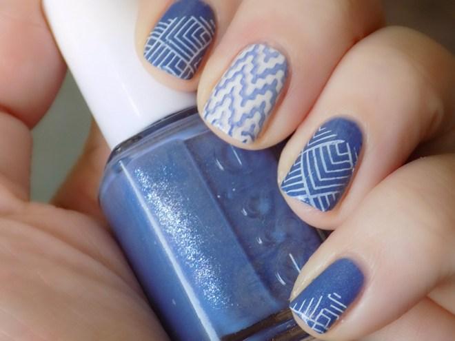 Essie Smooth Sailing Blanc Nail Art
