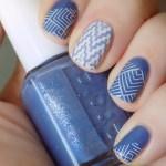 Essie Smooth Sailing & Blanc Nail Art