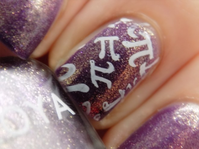 pi day nail art close up