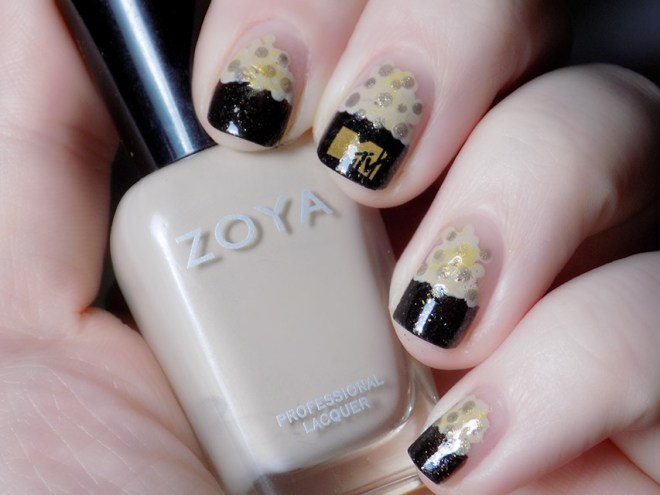 MTV Movie Award Popcorn Nail Art