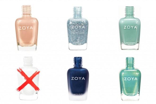 Zoya Nail Polishes starting with U to Z
