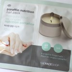 thefaceshop paraffin nail pack packaging