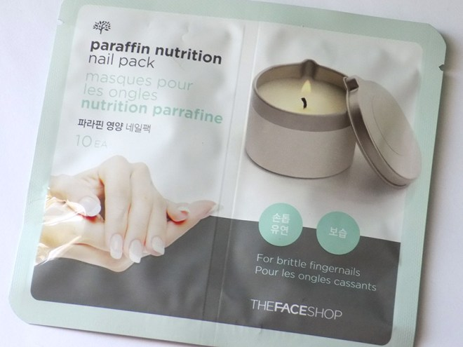 thefaceshop paraffin nail packs packaging