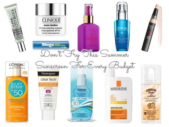 Canadian facial sunscreen for every budget