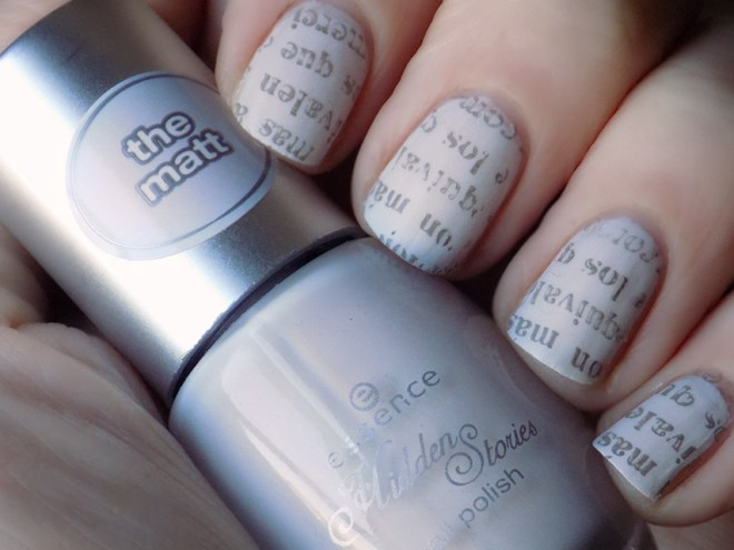 Essence Enter Wonderland Newspaper Nail Art Mani
