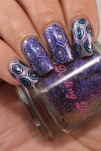 Lazy Laquerista Peacock Nails 4