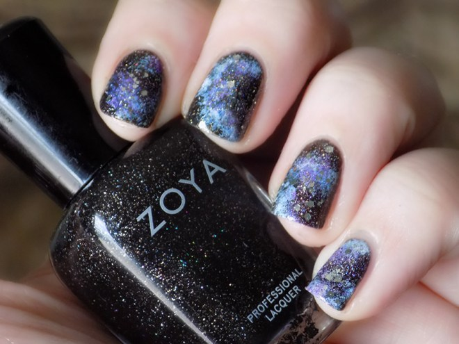 Sparkling Galaxy Nails Swatches and Tutorial