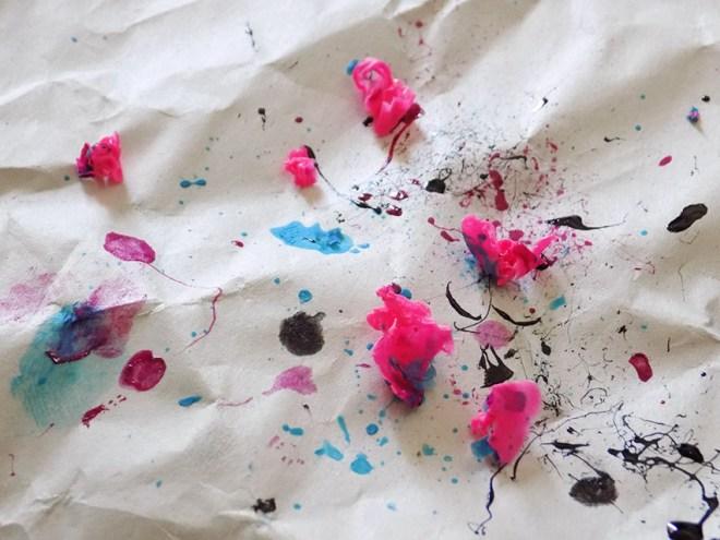 splatter nails mess
