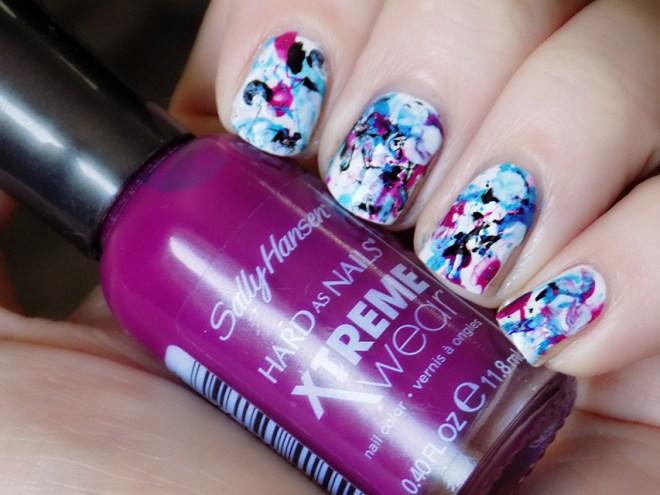 Splatter Nails - Tea & Nail Polish