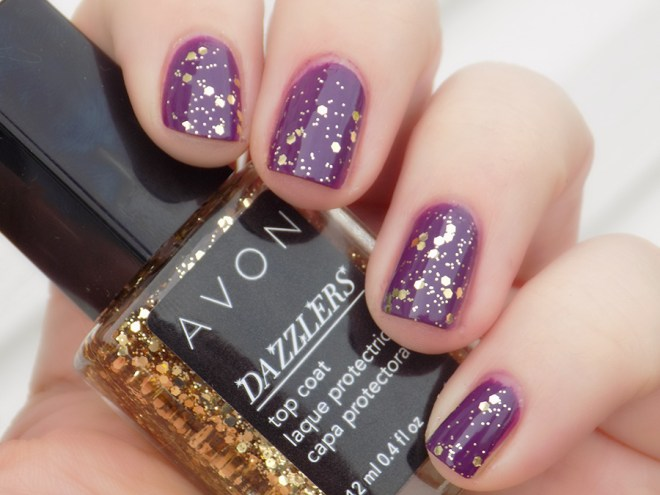 Avon Dazzlers Top Coat Glitzy Gold Swatch