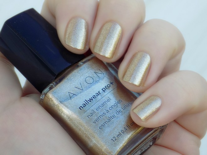 Avon Nailwear Pro Golden Vision Gold Nail Polish Swatch