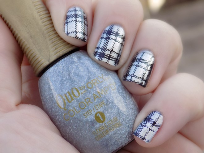 Quo by Orly Color Ampd Best Dressed Silver Foil Nail Polish Stamped