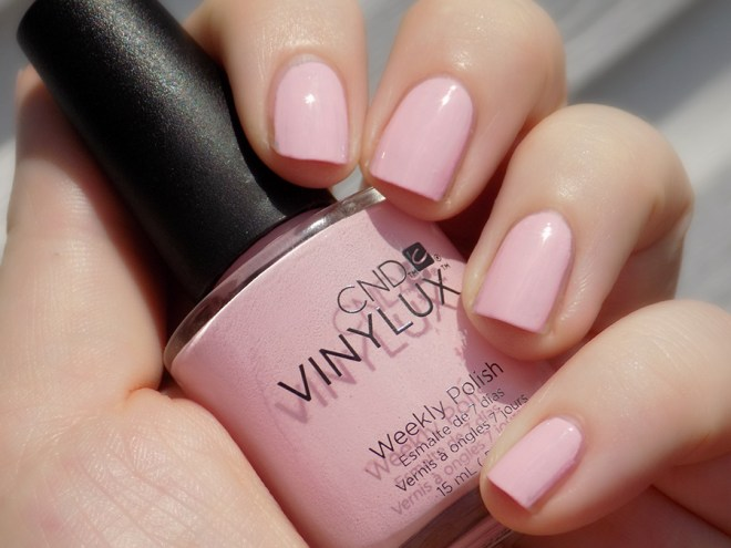 CND Vinylux Be Demure Nail Polish Swatch and Review
