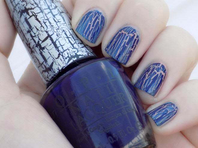 OPI Navy Shatter Swatch 2