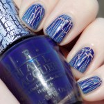 OPI Navy Shatter Swatch