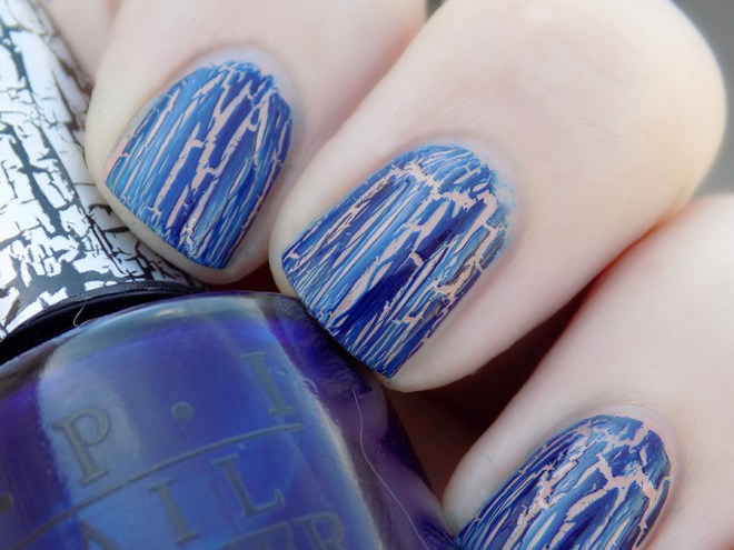 OPI Navy Shatter Review and Swatches