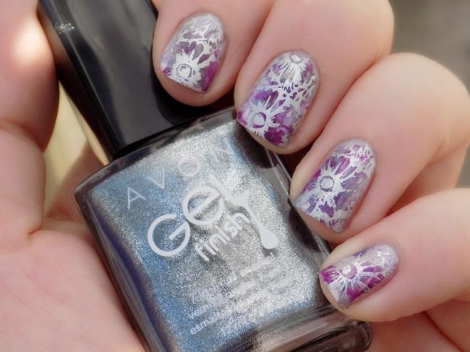 Avon Sterling - Lavender Sky - Purplicious - Swatch Stamped