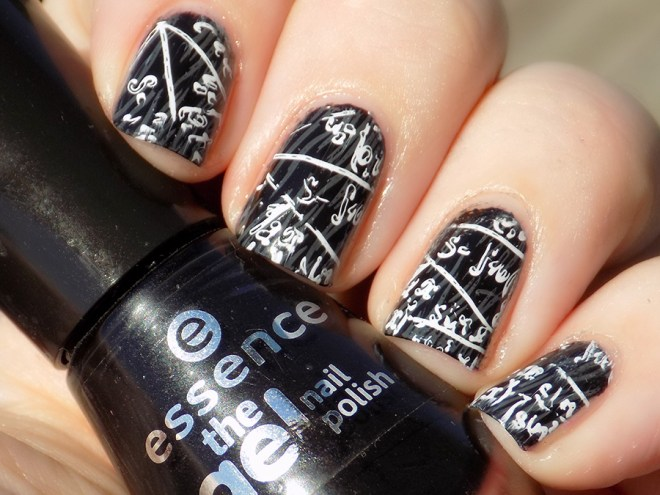 Back to School Chalkboard Equation Nails With Essence
