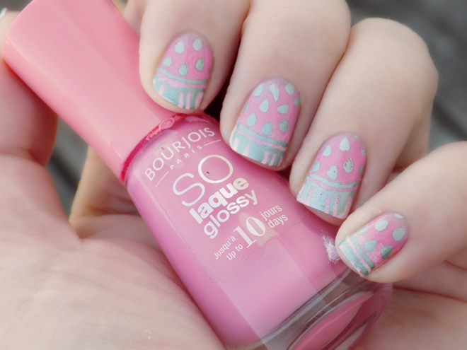 Watermelon Nail Art Bourjois Peachy MdU Forest Swatch