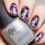 Advanced Nail Stamping Flowers #31DC2016