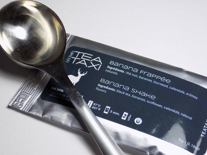 Tea Taxi Subscription Sample - Banana Shake Tea Packaging