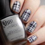 CBBNov Plaid Nails - Quo Runway Ready - Pueen Geo Lover 02 - Black White Double Stamping - 2