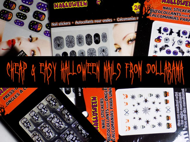 Cheap and Easy Halloween Nails From Dollarama Canada 2016 Easy Halloween Nailart