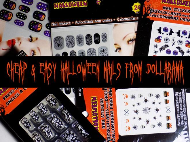 Cheap and Easy Halloween Nails From Dollarama Canada 2016 Easy Halloween Nailart