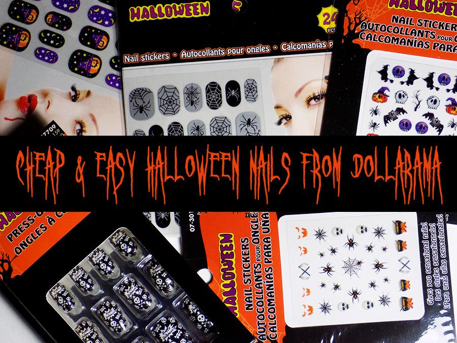 Dollarama Halloween Full Nail Options - Tea & Nail Polish