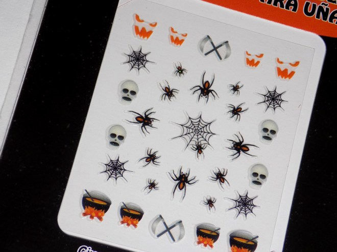 Cheap and Easy Halloween Nails From Dollarama Canada 2016 Halloween Nail Stickers Spiders and More