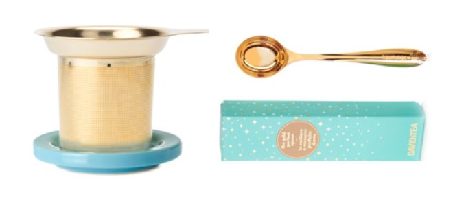 DavidsTea Winter Collection - Gold Perfect Spoon and Infuser