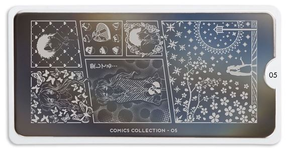MoYou Comics Girl 05 starter set plate - Trade Secrets Canada Nail Stamping