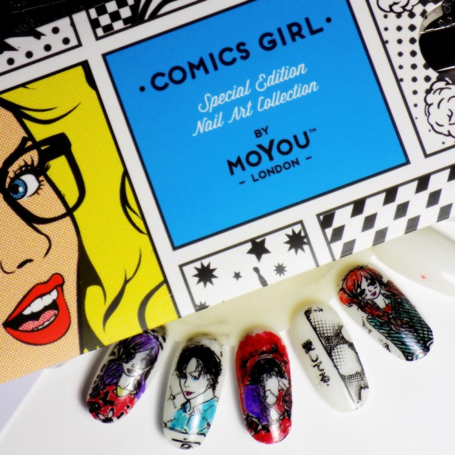 MoYou London Comics Painted With Sharpies, available at Trade Secrets Canada for nail stamping